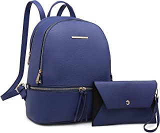 MMK collection Women Fashion Backpack with wallet ~Designer Purse for Women ~Multi Pocket Backpack Handbag Set(2443/7025)