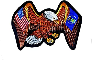 """U.S. Air Force And USA Flags On Eagles Wings Large Embroidered Back Patch 13"""" X 10"""""""