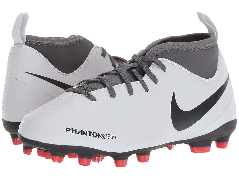 Nike Kids Jr. Phantom Vision Club DF MG Soccer (Toddler/Little Kid/Big Kid) (Wolf Grey/Black/Light Crimson) Kids Shoes