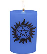 Supernatural Candle - Anti-Possession Insignia Sculpted Pillar Candle - Multi Use With 80 Hour Burn Time - Ward off Demonic Possession without the Tattoo - Unscented - 6