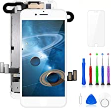 Compatible with iPhone 7 Screen Replacement White 4.7 Inch Full Assembly LCD Display Digitizer with Front Camera, Ear Speaker, Proximity Sensor and Repair Tool Kit (A1660, A1778, A1779)