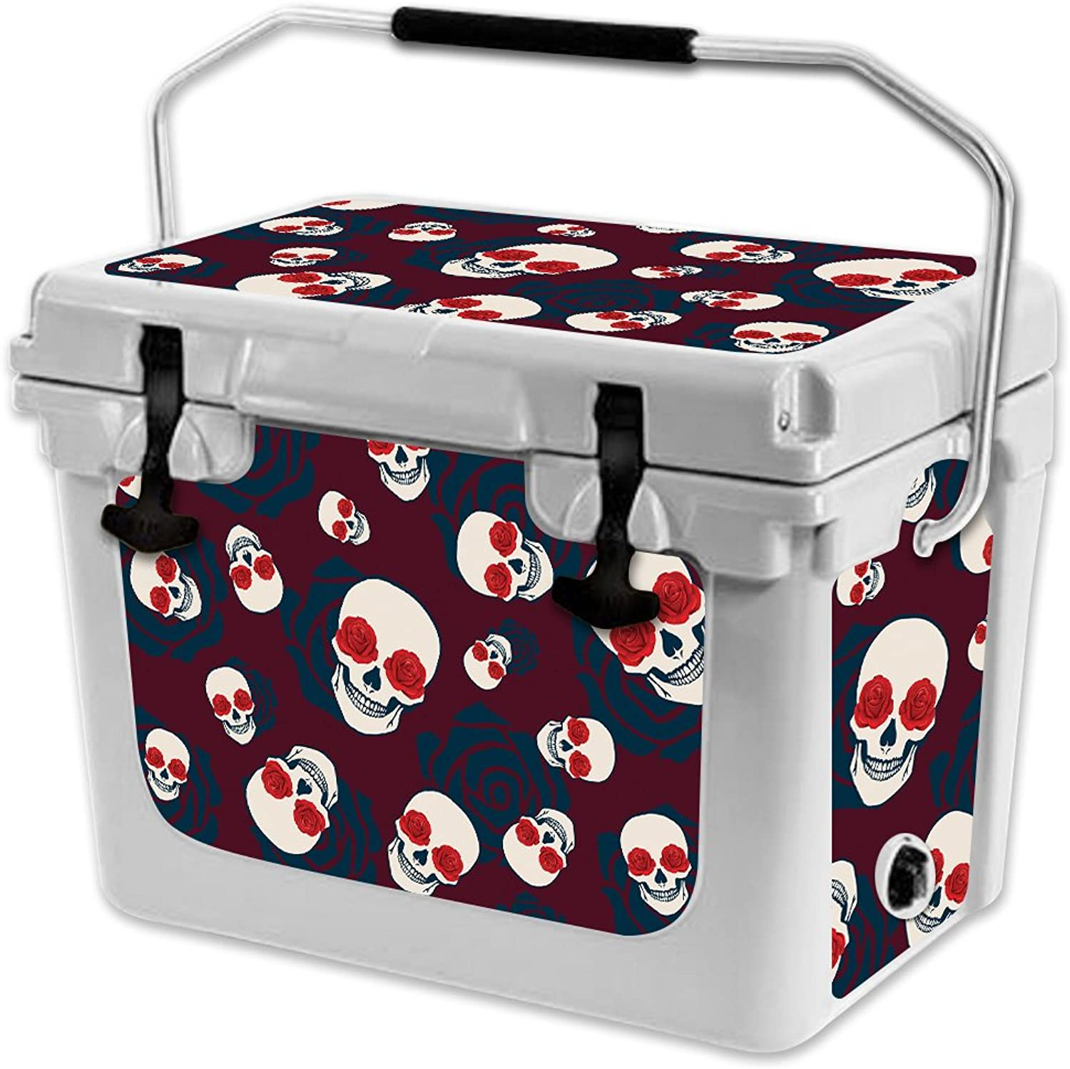 MightySkins Skin Compatible with RTIC 20 Cooler (2017 Model)  Skulls N pinks   Predective, Durable, and Unique Vinyl Decal wrap Cover   Easy to Apply, Remove, and Change Styles   Made in The USA