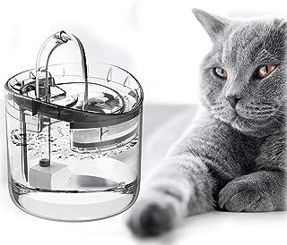 Lacyie Kattvattenfontän, 1,8 l husdjursfontän med LED-ljus, 3 lägen ultratyst kattmattefontän med bärbart hygieniskt utbyt...