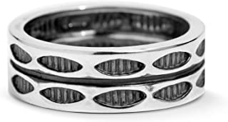 American West Sterling Silver Symbol Engraved Double Row Band Ring Size 5 to 13