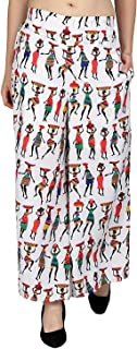Fraulein Women's/Girls Palazzos Tribal Design Soft Crepe Flared Bottom Trendy and Stylish Palazzos with One Pocket and Mes...