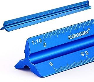 Règles Aluminium Echelle règle triangulaire échelle Triangle 1: 2.5, 1: 5, 1: 10, 1: 20, 1: 50, 1: 100 gravé au laser