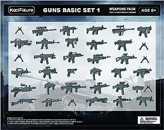 koolfigure Custom World War 2 Weapons Set for Military Minifigures, Building Blocks Figures Accessories, Guns for Minifigs