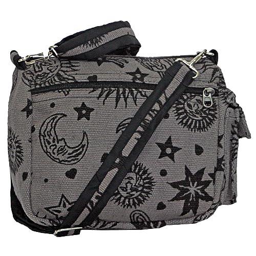 3e69702bf7 Sun Moon Stars and Planets Celestial Hippie Boho Crossbody Single Shoulder  Bag