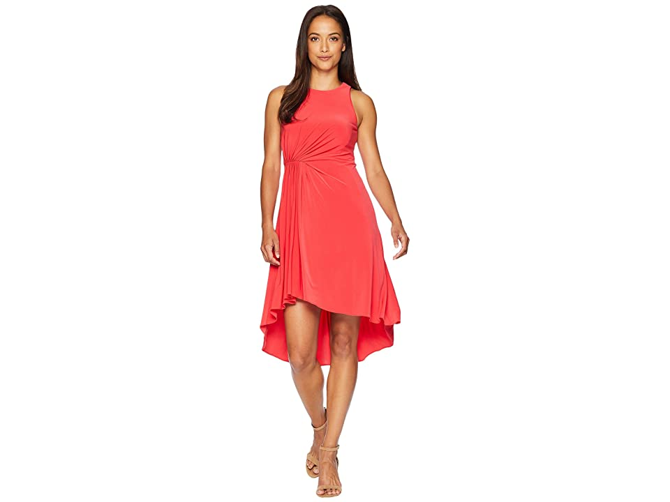 Adrianna Papell Petite Matte Jersey Fit and Flare (Geranium) Women