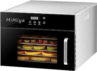Déshydrateur Alimentaire, MiMiya 6 Plateaux Inox • Desydratateur avec Minuteur (24H) Température Réglable (30 à 90°C) Food...