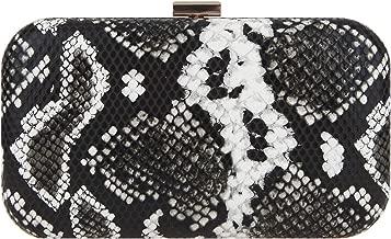Fawzia Baguette Purse Bling Snakeskin Clutch Evening Bags