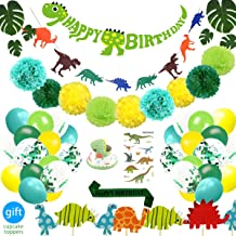 69 Pack Dinosaur Party Supplies Little Dino Party Decorations Set for Kids Birthday Party, Baby Shower, Bridal shower Deco...