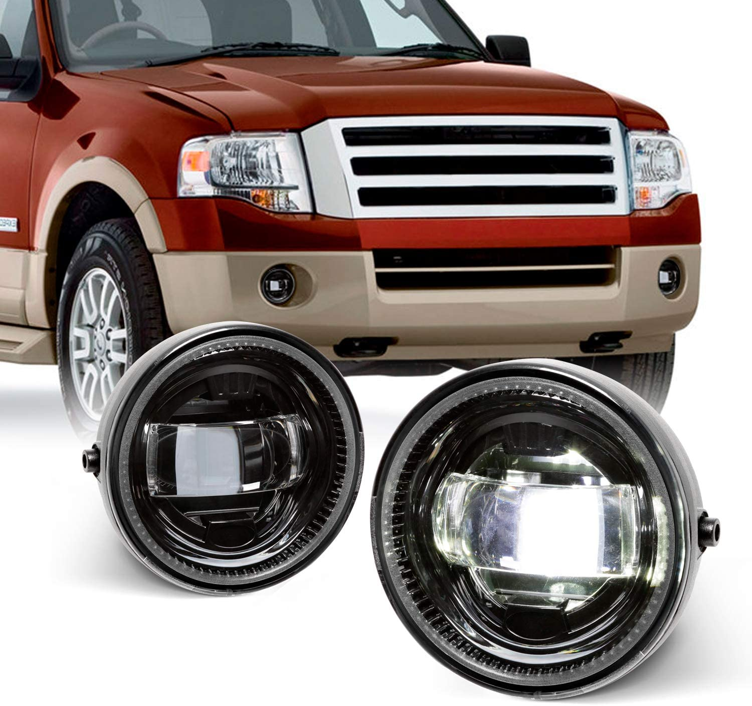 Cree LED Fits 2007-2010 Free shipping on posting reviews Ford Max 90% OFF 08-10 Expedition 11-14 Ranger