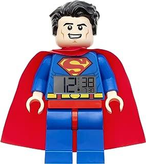 LEGO Superman Alarm Clock, Blue, 9 Inches