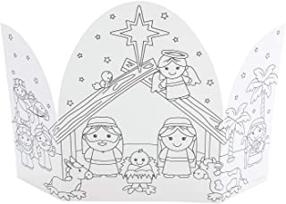 CYO BABY JESUS NATIVITY TRIFOLD - Craft Kits - 12 Pieces
