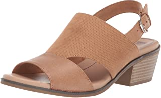 Dr. Scholl's Shoes Women's Hail Heeled Sandal, Nude Perforated, 6 M US