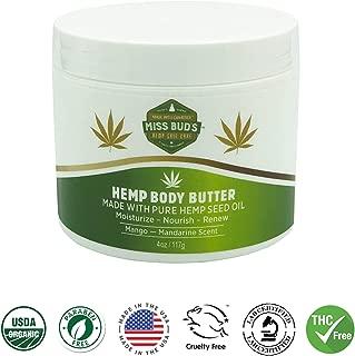 Miss Bud's Hemp Body Butter Moisturize & Nourish Skin Made from Pure Hemp Seed Oil