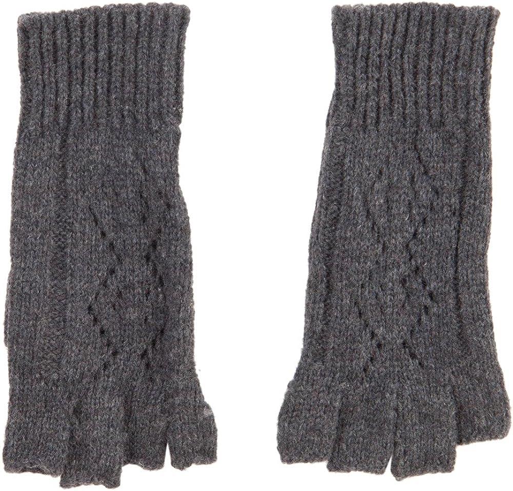 Women's Diamond Design Fingerless Glove