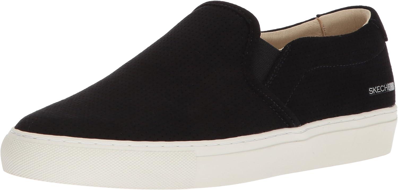 Skechers Womens Vaso-Bueno - Perfed Twin-Gore Slip-on Sneaker with Air-Cooled Memory Foam Sneaker