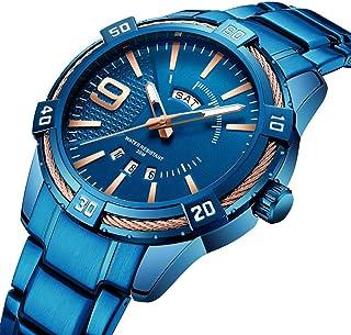 腕時計 メンズ スポーツビジネスカジュアルファッションステンレス鋼防水クロノグラフクォーツ時計