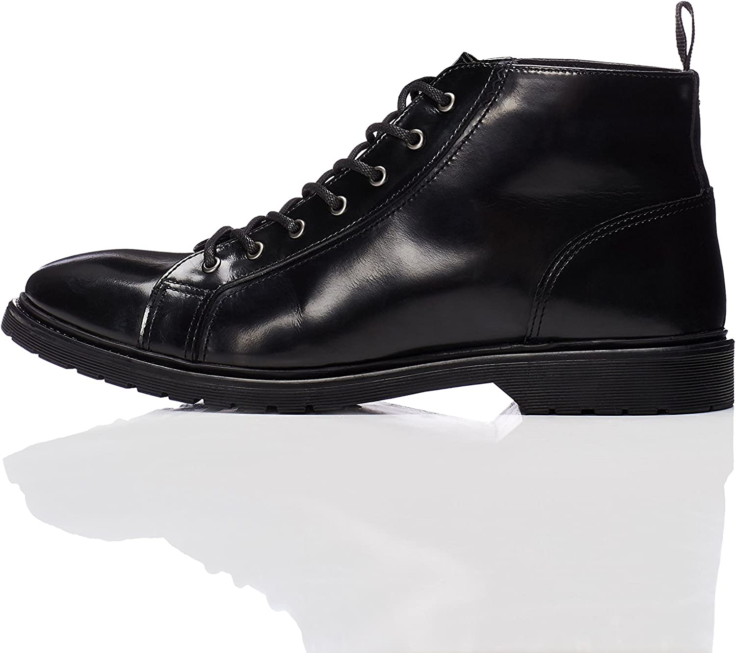 FIND Men's Leather Lace Up Boots
