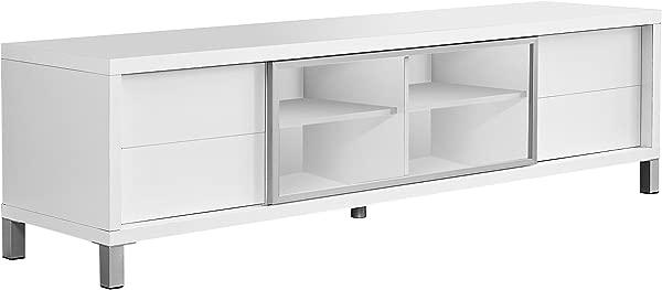Monarch Specialties I 2537 TV Console Euro Style White 70