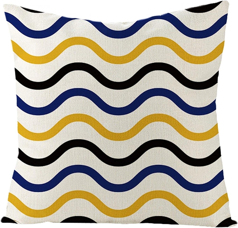 Daesar Throw Cushion Covers Yellow Max 53% OFF Pillowcase Blue Rapid rise