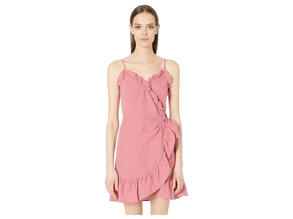 Rebecca Taylor Sleeveless Linen Wrap Dress (Rose) Women
