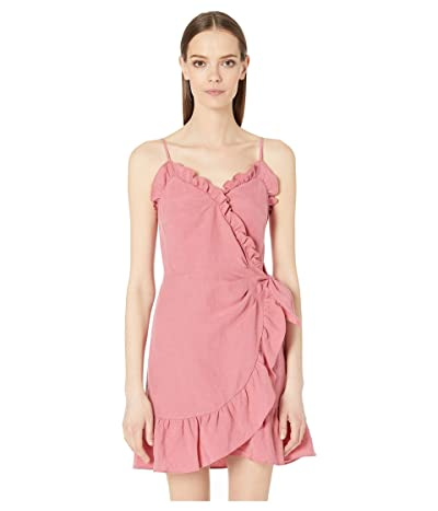 Rebecca Taylor Sleeveless Linen Wrap Dress (Rose) Women