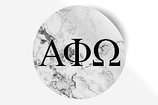 Alpha Phi Omega Sticker Greek Sorority Decal for Car, Laptop, Windows, Officially Licensed Product, Monogram Design 5