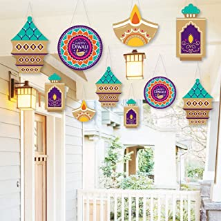 Big Dot of Happiness Hanging Happy Diwali - Outdoor Festival of Lights Party Hanging Porch and Tree Yard Decorations - 10 ...