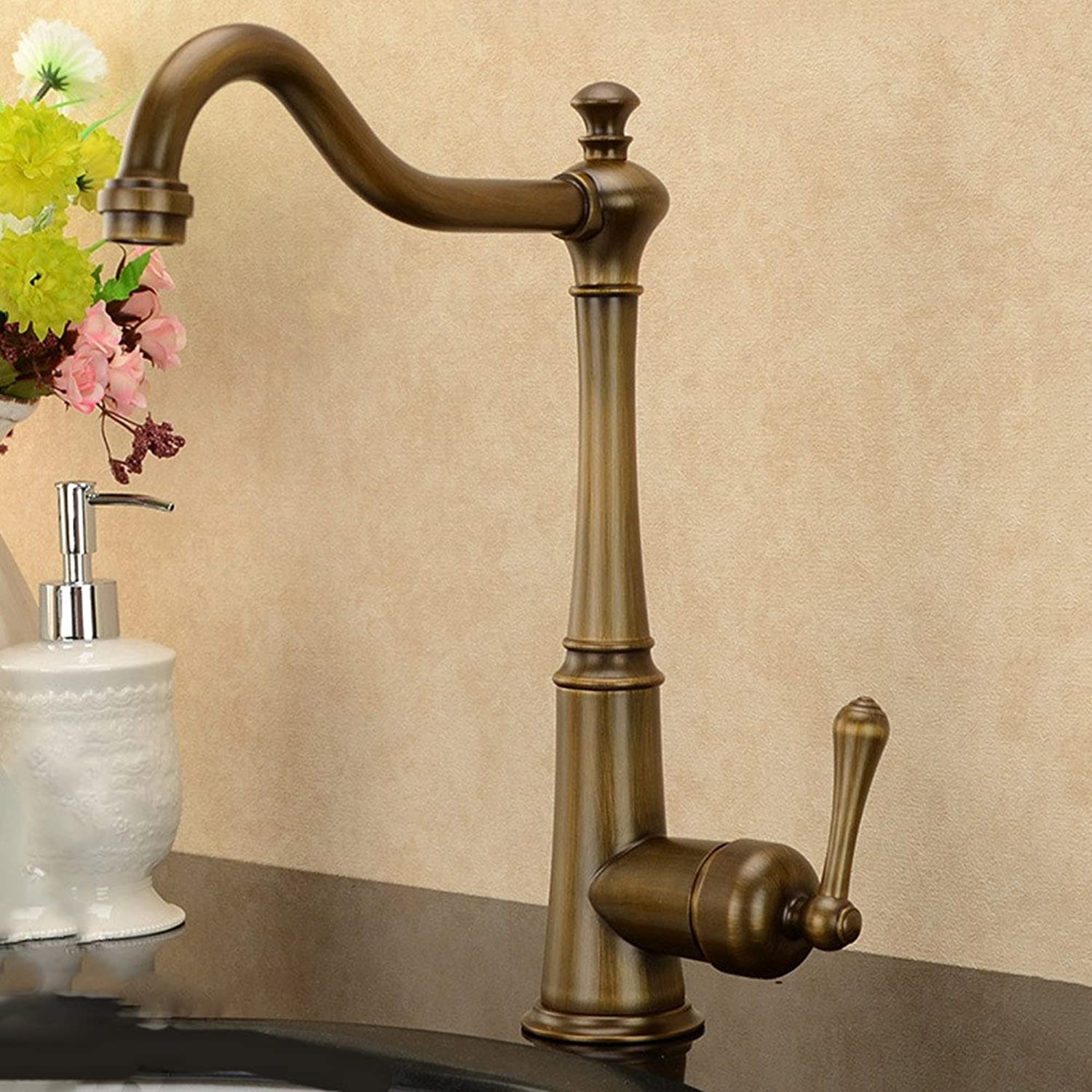 Gyps Faucet Basin Mixer Tap Waterfall Faucet Antique Bathroom Retro kitchen dish washing basin sink to turn the tap.,Modern Bath Mixer Tap Bathroom Tub Lever Faucet