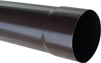 LATTONERIA Tubo pluviale (L 1 metro Lamiera testa di moro DN 80 mm)