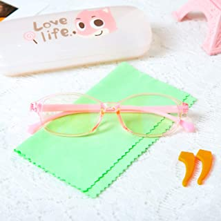 Kids Blue Light Blocking Glasses,Digital TV Computer Gaming Eyeglasses for Boys Girls Age 3-12,Children Silicone Flexible ...