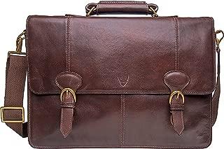 HIDESIGN Parker Men's Leather Laptop Briefcase, Brown