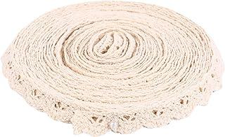 VALICLUD 1 rolo de 10 jardas de algodão rendas com acabamento de rendas para decoração de confecção de artesanato