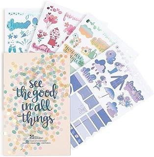 Erin Condren Designer Desk Accessories - Monthly Sticker Book, Edition 6, 12 Unique, Beautiful Sticker Sheets in a Designe...