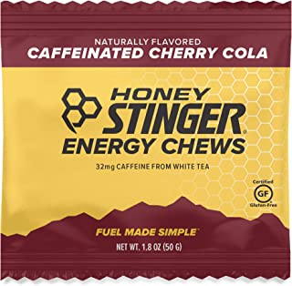 Honey Stinger Energy Chews, Cherry Cola, Naturally Caffeinated, Sports Nutrition, 1.8 Ounce (Pack of 12)