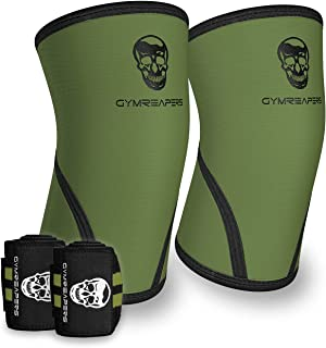 Gymreapers Elbow Sleeves (1 Pair) W/Bonus Wrist Wraps - Support & Compression for Powerlifting, Weightlifting, Bench & Ten...