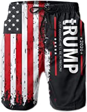 Trump 2020 - Just Kidding He'll Be in Prison! Men's Quick Dry Swim Trunks Beach Shorts with Mesh Lining