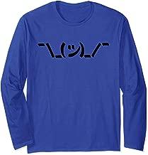 Not Impressed - ASCII Shrug Emoji Kaomoji Scowl Long Sleeve T-Shirt