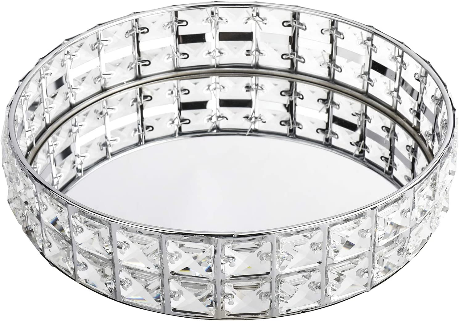HighFree Mirrored Crystal Ranking TOP8 Ornate Max 49% OFF Decorative Bling C Tray Sparkly
