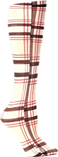 Celeste Stein  Therapeutic Compression Socks, Tan Brown Plaid, 8-15 mmhg, 1-Pair