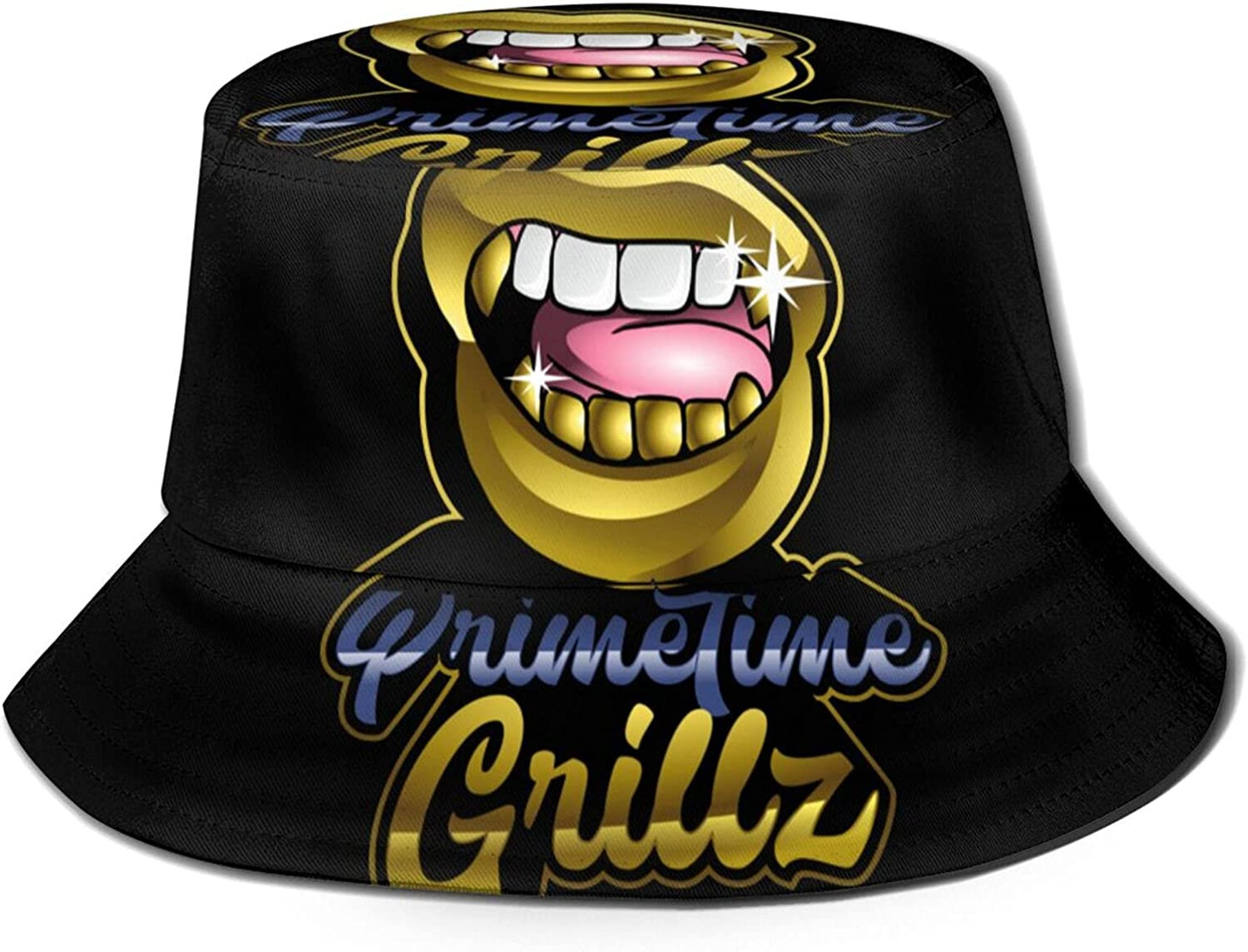 Grills Teeths Bucket Hat Unisex Summer At the price shopping Fisherma Packable Sun