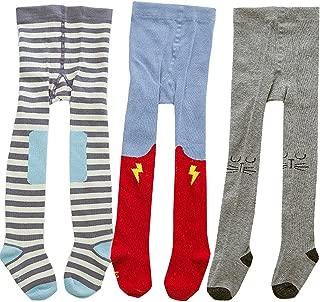 Baby Girl Tights Toddler Knit Cotton Leggings Pants Cartoon Socks 3 Pack