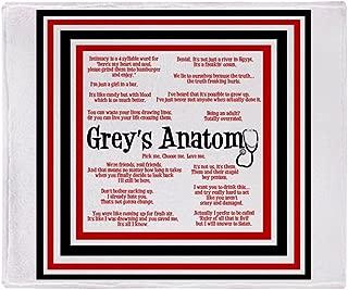 CafePress-Greys Anatomy Quotes-Soft Fleece Throw Blanket