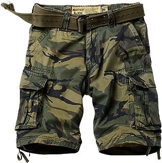 Men's Multi Pocket Loose Fit Cotton Twill Cargo Shorts