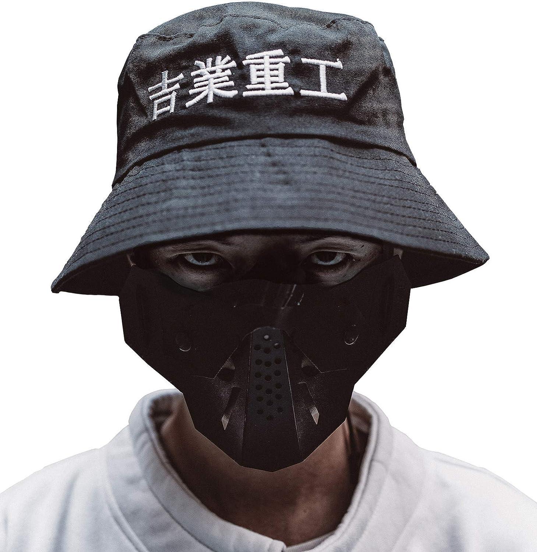MFCT Men's Japanese Kanji Bucket Hat Black : Clothing, Shoes & Jewelry