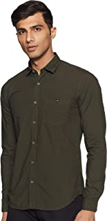 Louis Philippe Jeans Men's Solid Slim fit Casual Shirt