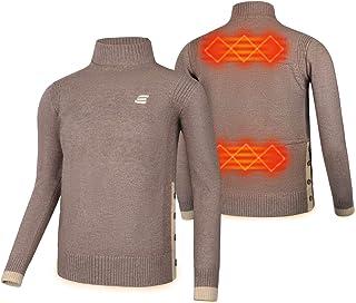 EEIEER Suéter Calefactable, Jerséis Hombre Invierno Jersey Mujer Calefactable USB, Temperatura Térmica Ajustable, Carga US...